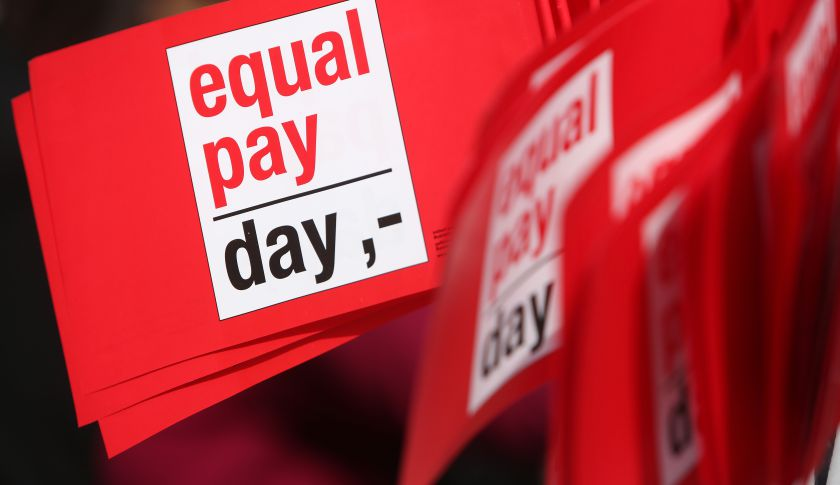 "Day"" Protesters Demand Equal Pay For Women"
